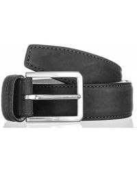Black.co.uk - Black Italian Nubuck Calf Leather Belt - Lyst
