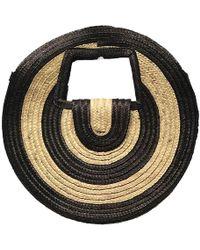 Black.co.uk Monochrome Straw Round Bag - Multicolour