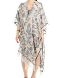 Black.co.uk - Aphrodite Floral Cotton Poncho Cover Up - Lyst