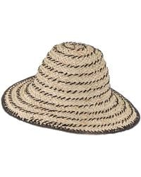 Black And Brown Straw Sun Hat