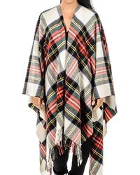 Black.co.uk - Dress Stewart Tartan Merino Wool Cape - Lyst