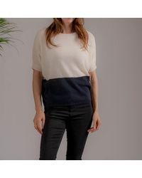 Black Cream And Cashmere Top - Multicolor