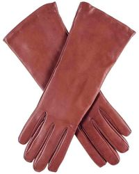 Black.co.uk Ladies Cashmere Lined Cognac Brown Leather Gloves