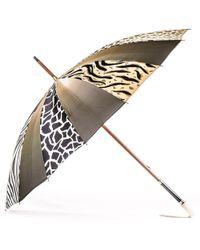 Black.co.uk Animal Print Italian Luxury Double Canopy Umbrella - Multicolour