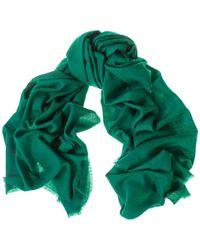 Black Emerald Green Handwoven Cashmere Shawl