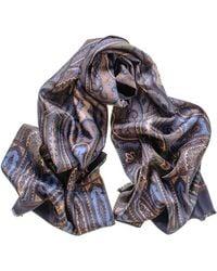 Black.co.uk Ravello Double Faced Italian Silk Scarf - Multicolour