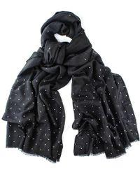 Black.co.uk - Black Swarovski Crystal Scattered Wrap In Cashmere And Silk - Lyst
