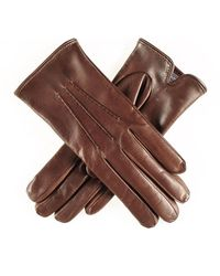 Black.co.uk Classic Brown Cashmere Lined Leather Gloves - Sample