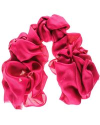 Black.co.uk - Bright Shocking Pink Cashmere And Silk Wrap - Lyst