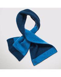 Black Two Tone Blue Skinny Cashmere Neck Warmer