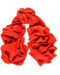 Black.co.uk Cardinal Red Cashmere And Silk Wrap