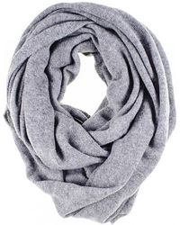 Black.co.uk - Grey Double Size Knitted Cashmere Snood - Lyst