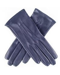 Black.co.uk - Midnight Navy Silk Lined Italian Leather Gloves - Lyst