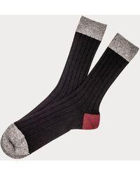 Black , Grey And Burgundy Cashmere Socks