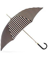 Black.co.uk - Black And Latte Stripe Luxury Umbrella - Lyst