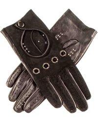 Black.co.uk - Ladies Black Suede And Leather Driving Gloves - Lyst