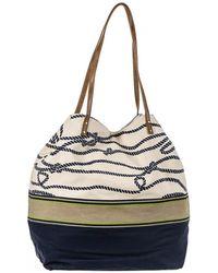 Black.co.uk - Nautical Navy And Cream Beach Bag - Lyst
