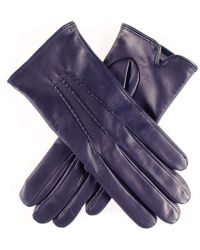 Black.co.uk Classic Navy Cashmere Lined Leather Gloves - Blue