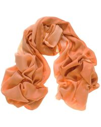 Black.co.uk Pumpkin To Peach Cashmere And Silk Scarf - Orange