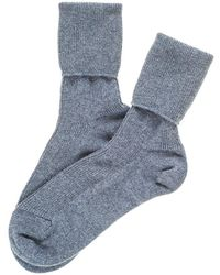 Black.co.uk - Ladies Denim Blue Cashmere Socks - Lyst