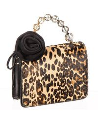 Black.co.uk - Leopard Print Calf Hair And Black Leather Mini Bag - Lyst