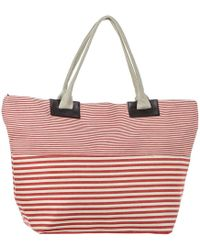 Black.co.uk - Cherry Red And White Striped Beach Bag - Lyst