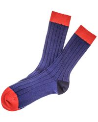 Black Blue Red And Navy Cashmere Socks