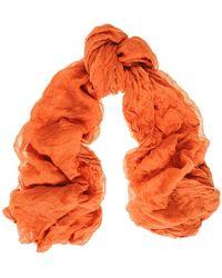 Black.co.uk Tangerine Modal And Silk Crinkle Scarf - Orange