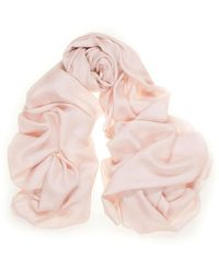 Black Summer Blush Cashmere And Silk Wrap - Multicolour