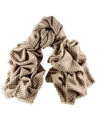 Black.co.uk - Cream And Biscuit Houndstooth Cashmere Ring Shawl - Lyst
