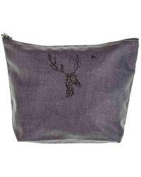 Black.co.uk Vendome 'deer' Large Make Up Bag - Purple