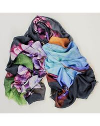 Black The Seasons Collection - Summer Cashmere And Silk Wrap - Multicolour