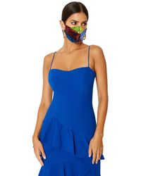 Black Halo Facial Covering *final Sale - Blue