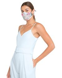 Black Halo Facial Covering *final Sale* - White