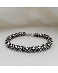 Blanc de Noir & Co. Classic Phikoun Rope Bracelet W/ Diamond Accent - Metallic