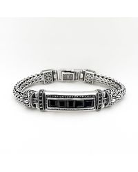 Blanc de Noir & Co. 5 Stone Bracelet In Black Sapphire - Metallic
