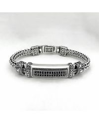 Blanc de Noir & Co. The Pixel Bracelet In Black Sapphire - Metallic