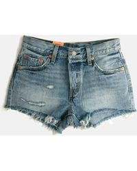 869d67e6531 Forever 21 Levis 501 High Rise Shorts in Blue - Lyst