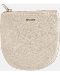 BAGGU Small U Pouch_platinum - Natural