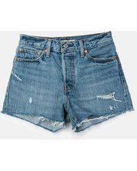 Levi's - Levis Wedgie Fit Shorts_blue Your Mind - Lyst