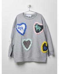 Michaela Buerger Skandinavian Love Sweatshirt - Gray