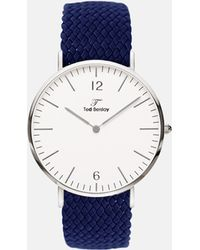 Ted Berslay - Drepper Silver Navy Blue - Lyst