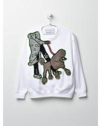 Michaela Buerger Dog Walking Sweatshirt Cream - White