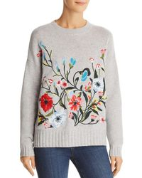 C By Bloomingdale's - Embroidered Cashmere Jumper - Lyst