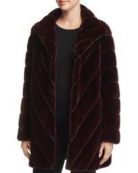 Calvin Klein Faux Fur Teddy Coat - Black