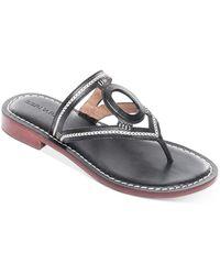 Bernardo Women's Tania Leather Thong Sandals - Black