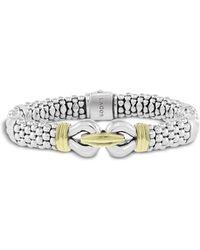 Lagos - 18k Gold And Sterling Silver Derby Bracelet - Lyst