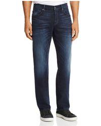 7 For All Mankind - Carsen Dark Current Straight Fit Jeans In Dark Indigo - Lyst