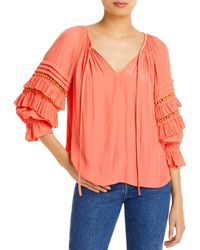 Ramy Brook Graham Embellished Peasant Top - Multicolour