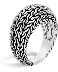John Hardy - Sterling Silver Classic Chain Dome Ring - Lyst